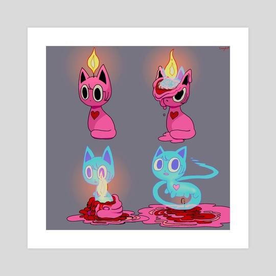 Goretober 17: Candle by Sinny Kitt