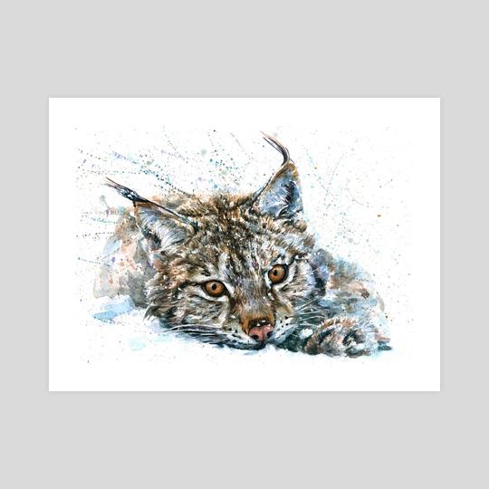 Lynx watercolor by Konstantin Kalinin