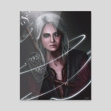 Ciri The Witcher - Acrylic by Mireia Fdz