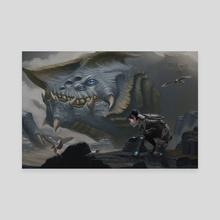 Kaiju & Clio - Canvas by Dennis Darmody