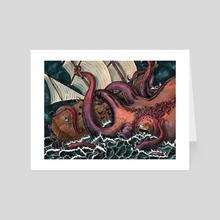 The Kraken - Art Card by Carson Drew It
