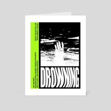 DROWNING - Art Card by Jibaye Ogunsiakan
