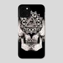 Seeing Skull - Phone Case by Damian Foreman