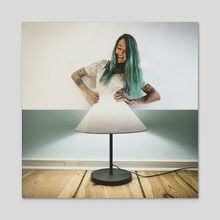 Shiny Dress - Acrylic by Monica Carvalho