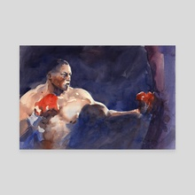 The Boxer - Canvas by Audran Guerard