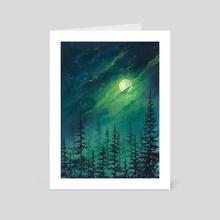 """Full moon"" - Art Card by Olya Demidova"