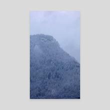 Snowy Mountain - La Motte - Canvas by Raphaelle Fontaine