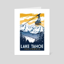 lake tahoe california - Art Card by matt schnepf