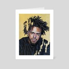 j. cole - Art Card by Jackie Liu