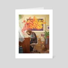 Imagination - new version - Art Card by Kelley McMorris