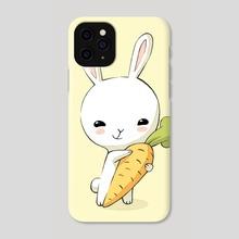 Bunny Carrot 2 - Phone Case by Indré Bankauskaité