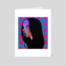 Blue - Strawberry - Art Card by Drew Fleet