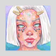 Mind  - Canvas by Jane Koluga