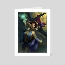 Sorceress - Art Card by Piotr Tekien