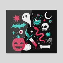Spooky Scary Stuff - Acrylic by EJ Chong