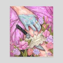 Knife  - Canvas by Jane Koluga