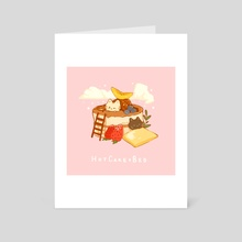 Hot Cake Bed - Art Card by Nadia Kim