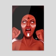 Rage - Acrylic by Quyncc Johnson