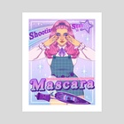 Shooting Star Mascara Co. - Art Print by Keely Parks