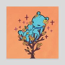 Sleeping Bear - Canvas by Sola Gracia Moedak
