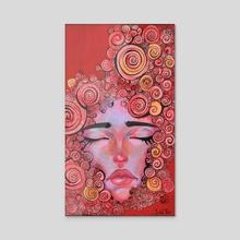Spiraling - Acrylic by Delia Mihai
