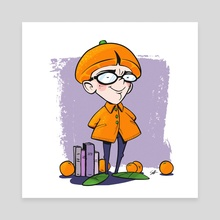 Orange Kid - Canvas by Shane Hunt