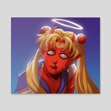 Sailor Demon Usagi - Acrylic by Eli Cerero