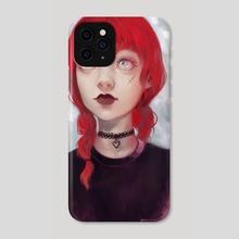 Goth Girl - Phone Case by Cristina de Elías