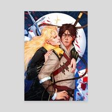 Alucard & Trevor Belmont, Castlevania - Canvas by Herbst Regen