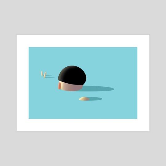 Sinking Boy by Toney Holes