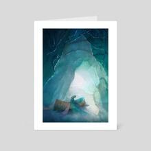 When Ice Becomes Silk - Art Card by Faryn Hughes