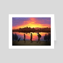 Sunset  - Art Card by Hannah Agosta