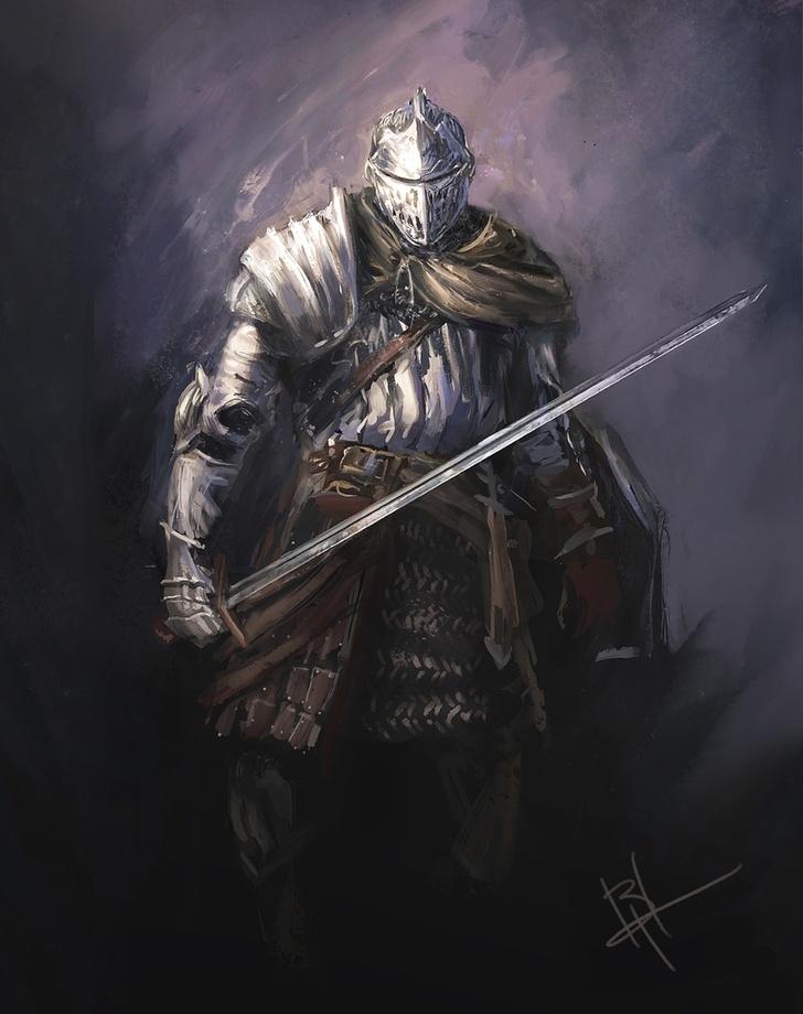 Image of: Gothic Art Dark Souls Knight Scene360 Dark Souls Knight An Art Print By Byron Hamilton Inprnt