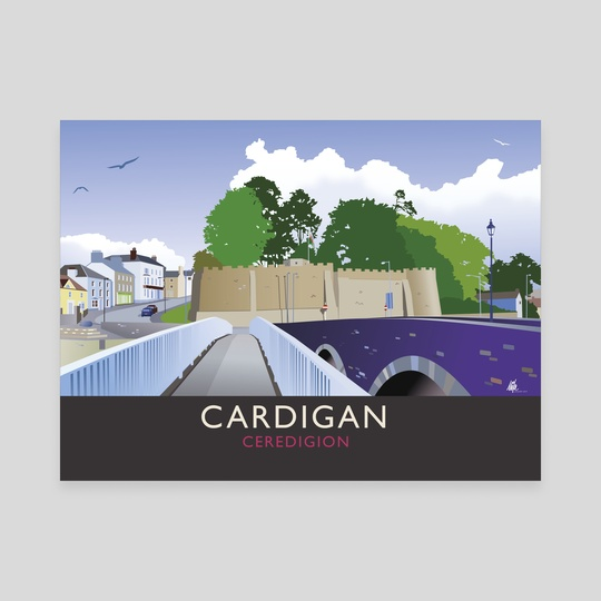 Cardigan, Ceredigion. Wales by MIKE TURTON