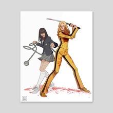 Beatrix Kiddo and Gogo Yubari of Kill Bill Vol 1 - Acrylic by Amelia Vidal