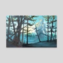 Hunters - Acrylic by Ludvik SKP