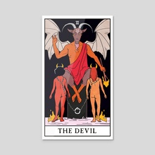 The Devil - The Modern Witch Tarot - Acrylic by Lisa Sterle