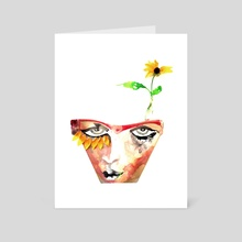 Self Portrait - Art Card by Andrea Vidrine