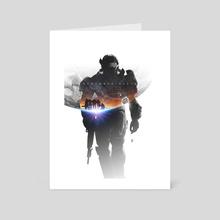 Remember Reach - Halo Reach - Art Card by Emad Ameri
