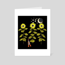 Sun flowers - Art Card by Lara Paulussen