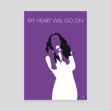 No151 MY Celine Dion Minimal Music poster - Canvas by Chungkong