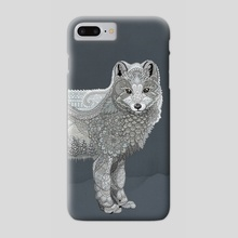 Arctic Fox - Phone Case by Zanna Field