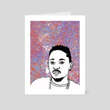 Kendrick Lamar - Art Card by Sam Haidemenos