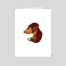 Dachshund - Art Card by Kendra Aldrich