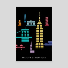 The City of New York: Empire State Building - Canvas by Christopher Dina