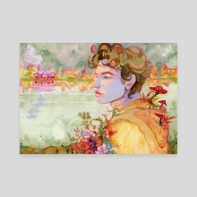 Wisteria. - Canvas by Bell4trixx Illustration