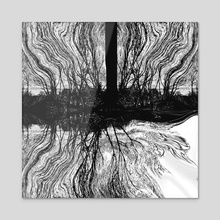 Mystic Island - Acrylic by Paul Raven
