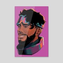 Seafoam Mirage Portrait - Acrylic by Diaroza