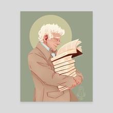 Bookshop Owner - Canvas by AV Dragnire | vidamie