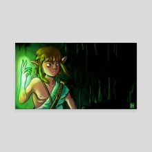 Shiny Link - Canvas by Tracy Morel